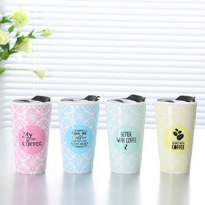 Custom cheap food-grade double wall mug creative,travel double wall coffee cup with plastic lid