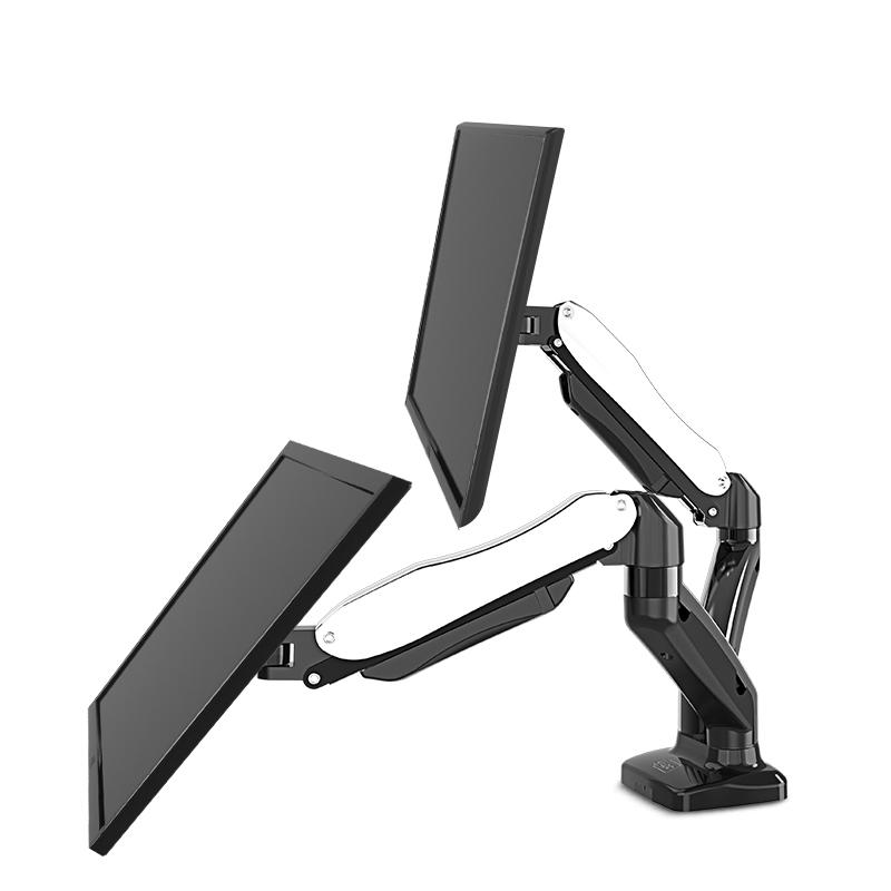 V210 desktop multi screen LCD gas dual monitor swing arm for office