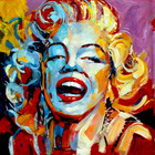 Movie star poster portrait pop art fantastic canvas oil painting for living room home hotel cafe modern wall Decoration