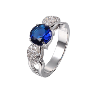 925 silver ring with blue stone zircon ring latest wedding ring designs