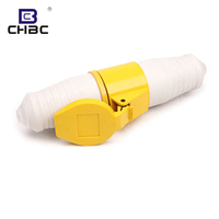 CHBC March Expo New 16a 32a 3 Pin 2P+E Yellow Industrial Plug And Socket