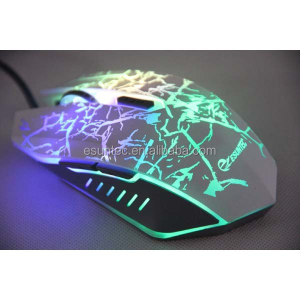 6D USB wired optical gaming mouse colorful LED light mouses For PC Computer Laptop GM-032A