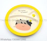 Cheap Bamboo Fiber Children Dinner Plates Eco Plate Tableware