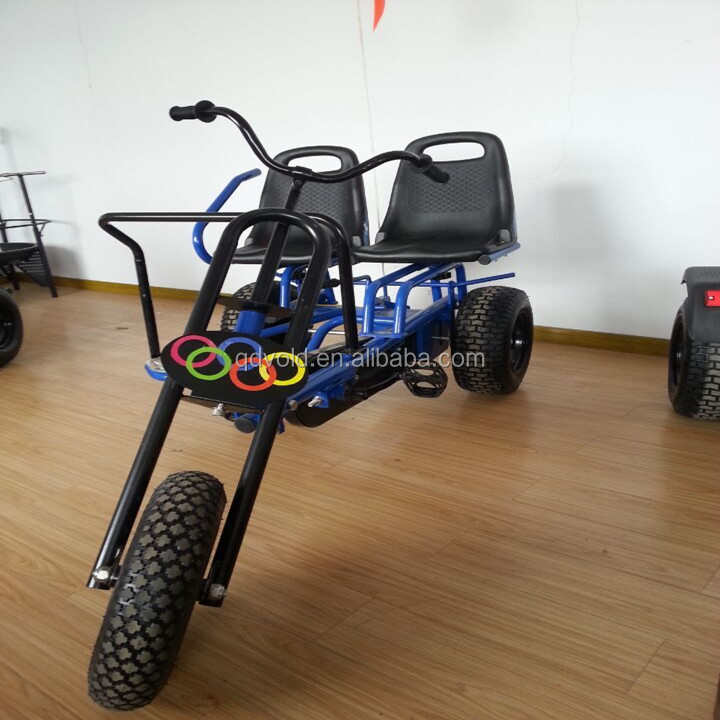 Adult tricycles two seat,3 wheel adult pedal kart