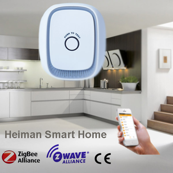 US plug Zigbee combustible gas detector from Shenzhen HEIMAN