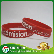 the cheapest silicone bracelet/silicone wristband with custom logo for advertising and sports