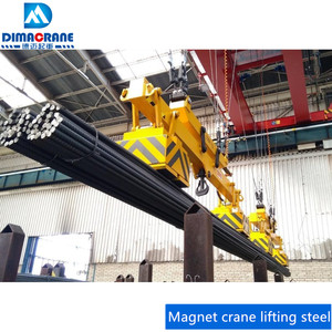 Double girder magnetic overhead crane/electromagnetic lifter lifting steel