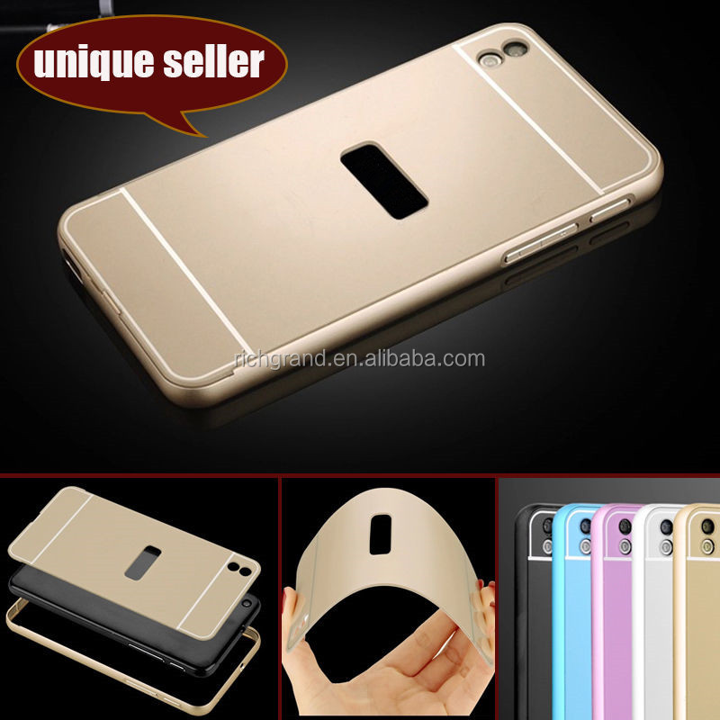 Luxury Metal Aluminum Bumper Frame + PC Back Case Cover For HTC Desire 816