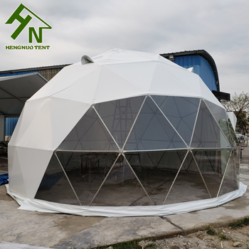 4m Geodesic Dome Half Sphere Tent With PVC Fabric Cover / Prefab Dome Home Kit For Sale