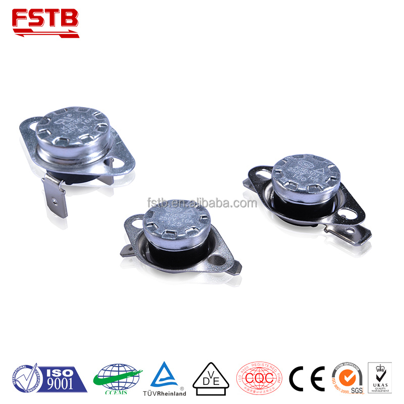 FSTB Wholesale Other Home Appliance Parts Type KSD301 Bimetal Type Thermostat Temperature Switch Electric Water Heater