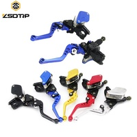 "CNC Aluminum 7/8"" 22mm Hydraulic Motocross Adjustable Brake Levers Motorcycle Clutch Brake Lever for 50-300CC Moto"