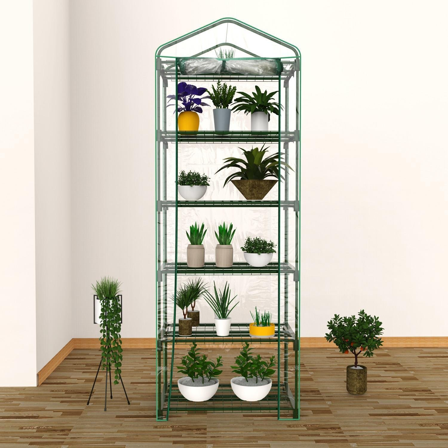 3-Tier Greenhouse Mini Outdoor//Indoor Garden Plant Growhouse W// PVC Cover 1 Pcs