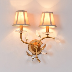 double shade crystal camera wall sconce light for bedroom decor ETL20050