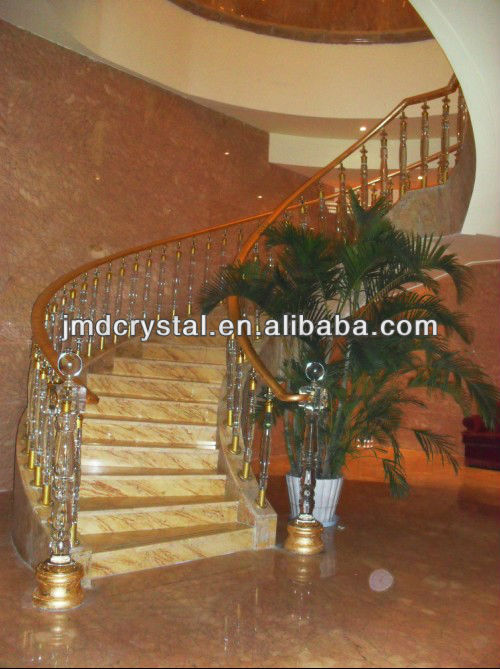 crystal glass stair handrail & baluster for home decoration