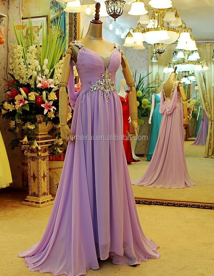 Customize High Quality Luxurious Long Evening Dresses Backless Evening Prom Gown Chiffon