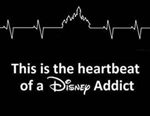 "Disney Addict Heartbeat 6"" White Car Truck Vinyl Decal Art Wall Sticker USA Disney Fun Adorable Cute Life Awesome Love Disney World Disney Land"