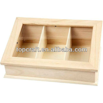 Plain Wooden Glass Sloping Lid Display Box Storage 40 Compartments Beauteous Small Wooden Boxes To Decorate