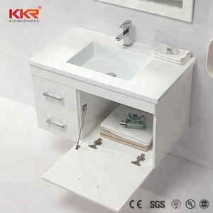 12 Inch Deep Modern Bathroom Vanity Wash Basin Cabinet Design