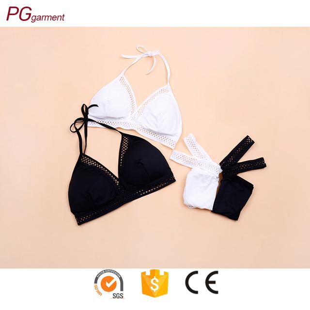 99b8da4c2b9ed lingerie bralette black white two color wholesale bralette for young girls