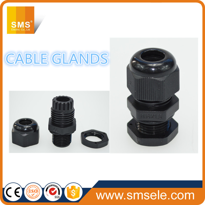 IP68 Waterproof Plastic Air Fitting/Black Cable Glands Connection