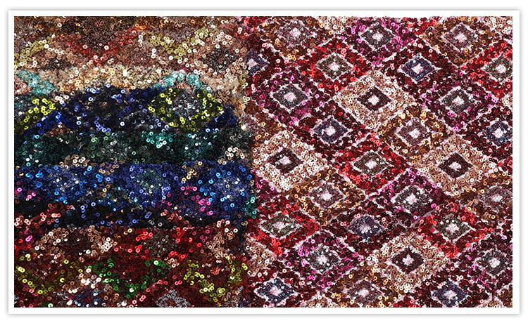 Ready Goods hot sale luxury heavy colorful star glitter sequin fabric embroidered