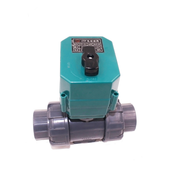 "Factory Sell High Quality dn25 Valve 32mm 1"" Electric Automatic Motorized Operate Plastic PVC Double True Union Flexible"