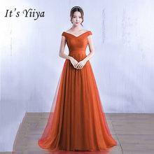 It's Yiiya Элегантные платья невесты Длинные свадебные вечерние платья размера плюс Королевское синее платье подружки невесты платье из тюля ...(Китай)