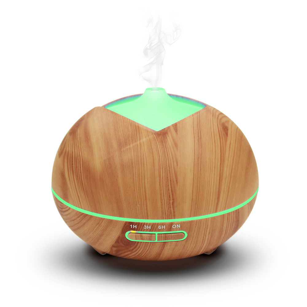 Long lasting aroma ultrasonic wood grain diffuser for congnitive improvement