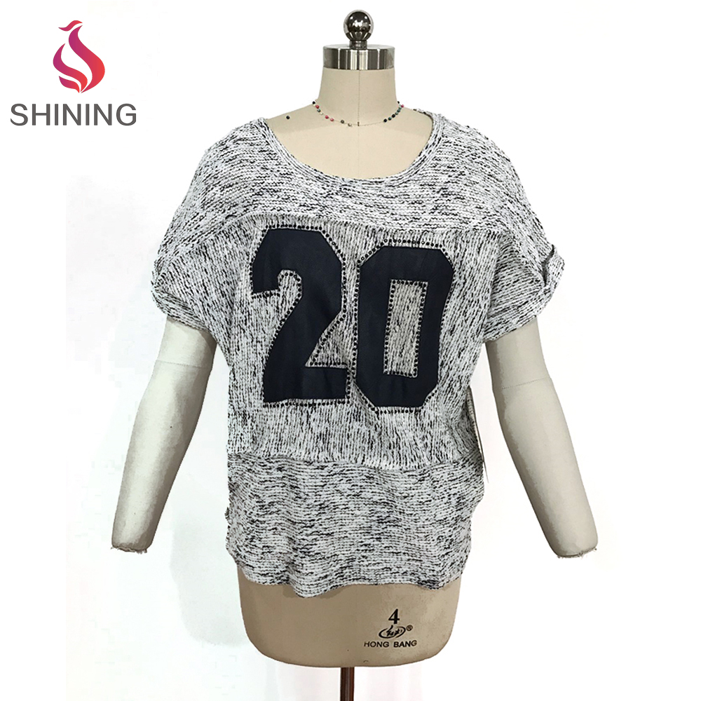 China Clothing Manufactures loose bat-wing sleeve shirt blouse women bulk v neck t shirt