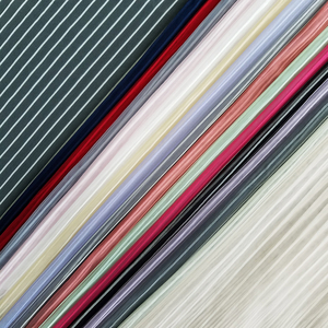 100% nylon soft stripe tulle tricot fabric