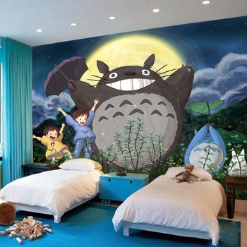 Custom Cheap Anime Cartoon Murals Wallpaper For Kids Room Decoration