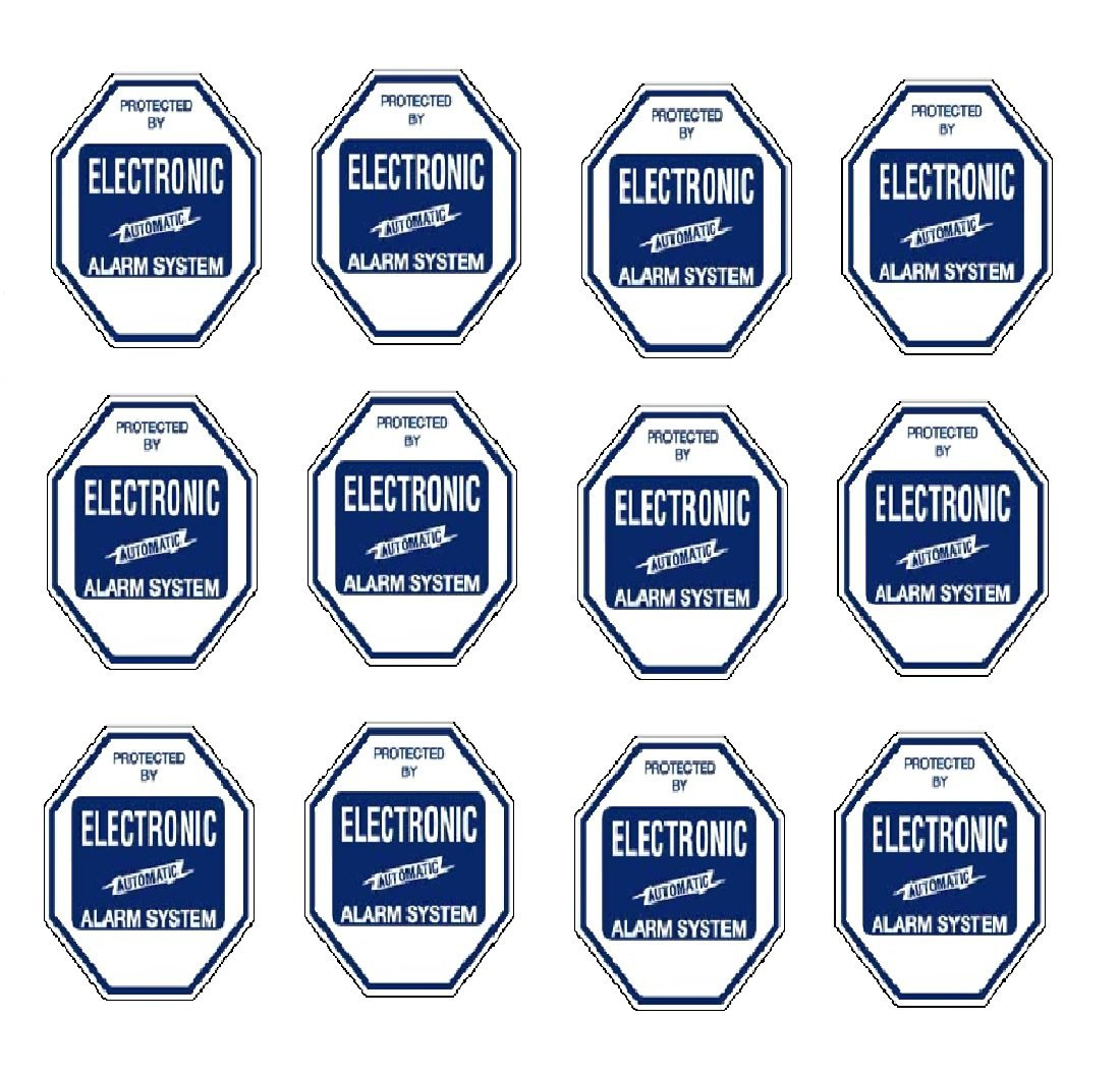 Security Decal #102 12 Commercial Grade Burglar ALARM System Deterrence Warning! Decals #102