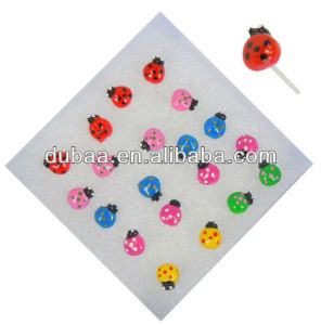 Designer Multi Color Beetle Soft PVC Kids Stud Earrings,Cheap Wholesale Stud Earrings