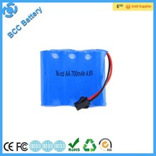 Wholesale rechargeable aa 700mah 4.8v/7.2v/9.2v nicd battery pack