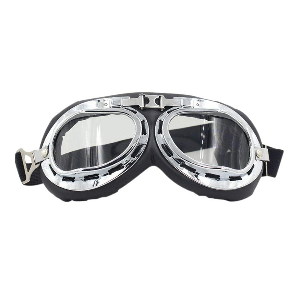 edeed8f3f0eb Classic Motorcycle Goggles - Vintage Scooter Eyewear Motocross Steampunk  Youth Windproof Glasses for ATV Dirt Bike