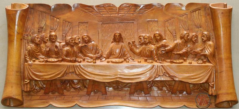 The Last Supper Wood Art Sculptures