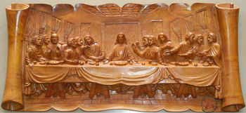 The Last Supper Wood Art Sculptures Buy Last Supper Wood Art