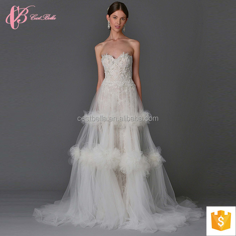 Exquisite off-shoulder lace appliques ball gown wedding dress
