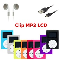 Factory Price Mini Portable Metal Clip MP3 Player LCD Screen With FM Radio