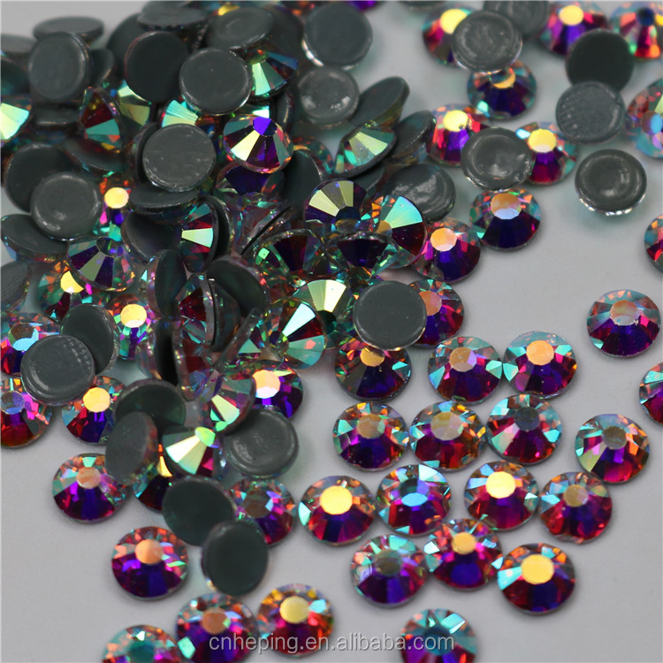 High quality china hot fix crystal ab flat back rhinestone