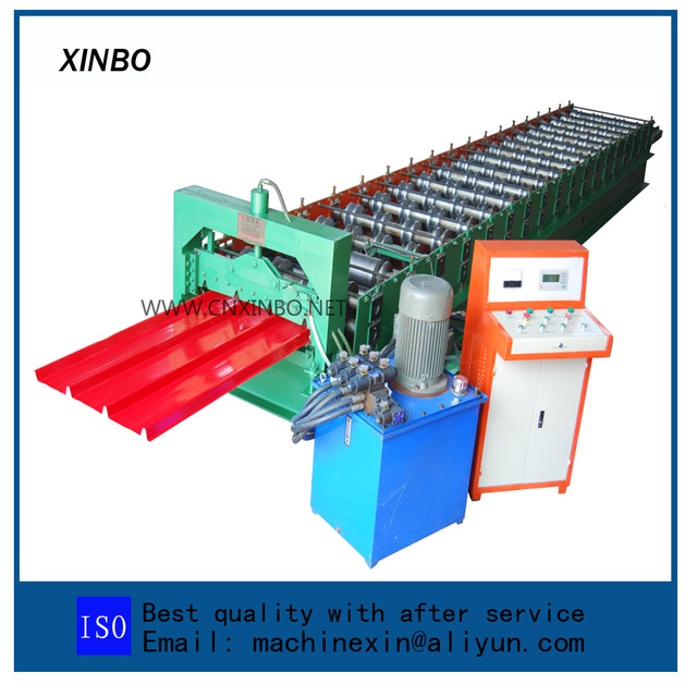 Roof panel roll forming machine building structure machine