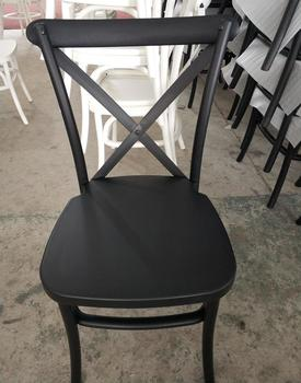 disassembled cross back dinning chair plastic
