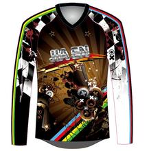 Projete sua própria camisa bmx completo, personalizado mountain bike downhill <span class=keywords><strong>dh</strong></span> camisa jerseys
