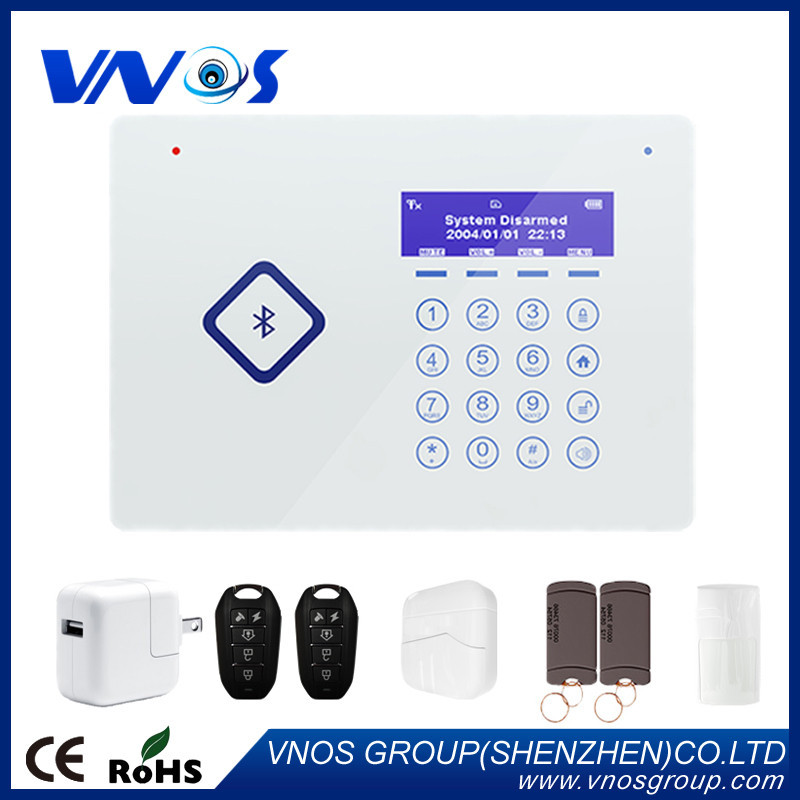 Bluetooth Touch Keypad Intelligent APP Andriod/IOS Home Security GSM Alarm System with RFID tag