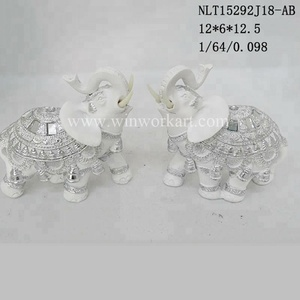 Antique Elephant figurines wholesale polyresin decorations gold animals