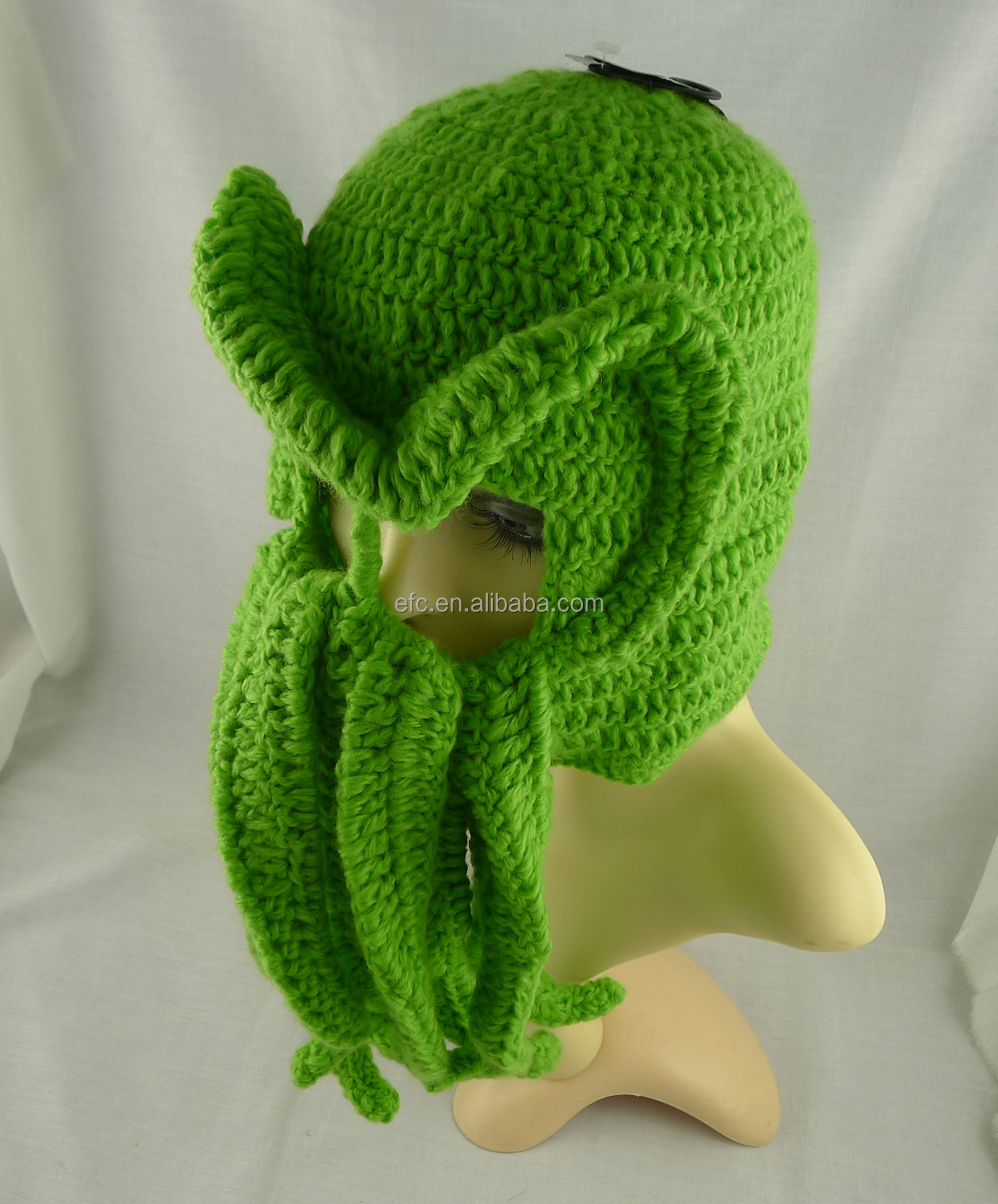 Hot sell hand knitted crochet cthulhu ski mask ski hat with hot sell hand knitted crochet cthulhu ski mask ski hat with tentacles crochet octopus hat bankloansurffo Choice Image