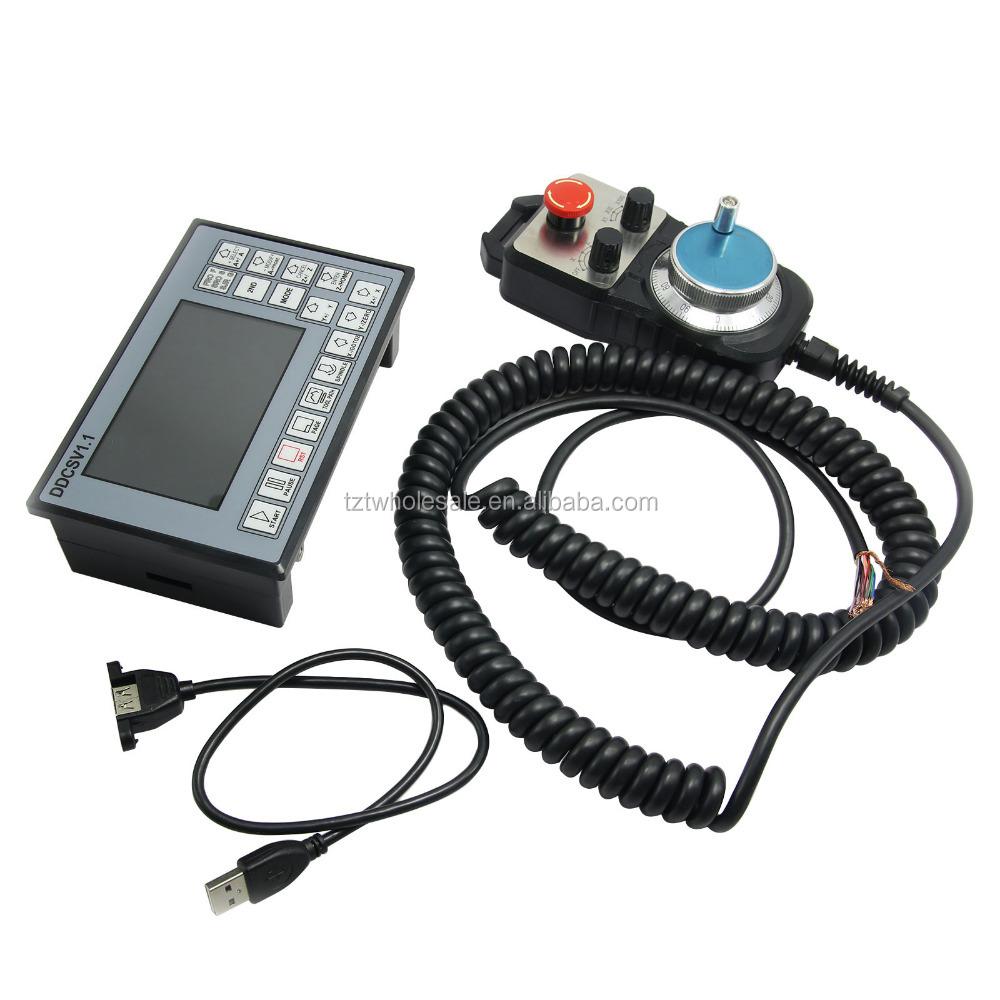 Cnc 4 Axis Motion Controller 500khz Stepper Motor Driver Ddcsv11 Wiring Diagram Mpg Pendant Handwheel Emergency Stop Buy Mini Driver3 Phase