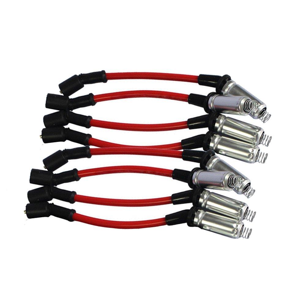 10.5mm Spark Plug Wires Set For CHEVY//GMC 1999-2006 LS1 VORTEC 4.8L 5.3L 6.0L