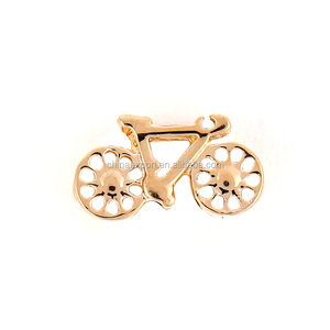 My Hobbies Bike Rose Gold Plating Keeper Charms