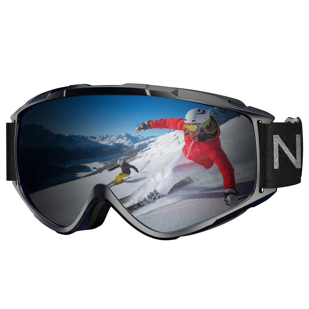 fd9260d597e8 Get Quotations · NXONE Ski Goggles Snow Goggles 100% Anti-Fog UV400  Protection Snowboard Goggles Dual Layer